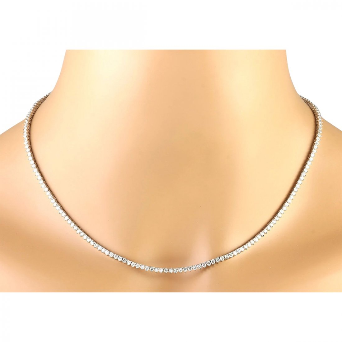 6.20 CTW Natural Diamond Necklace In 14k White Gold