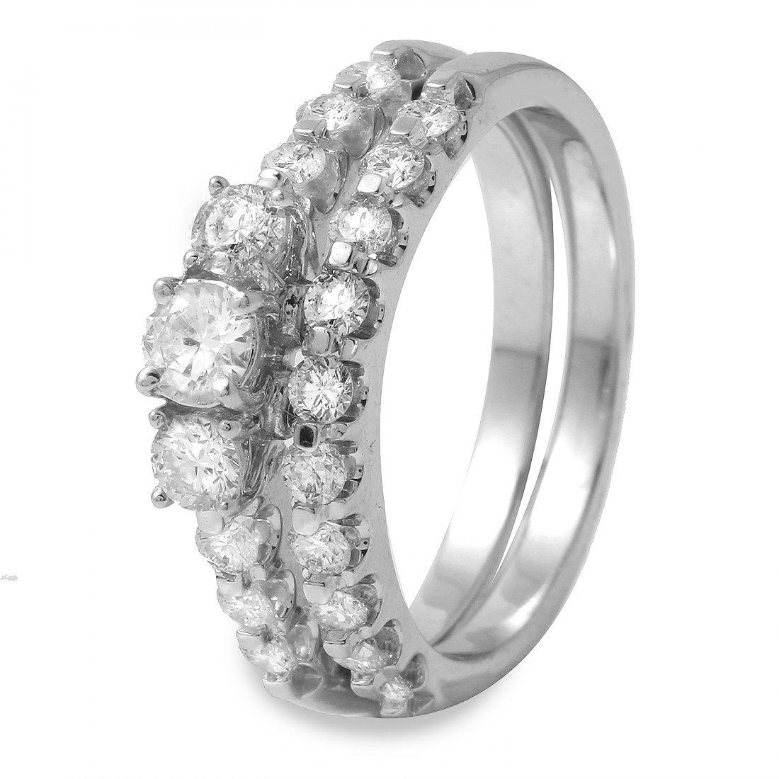 1CTW Diamond 14K White Gold Ring