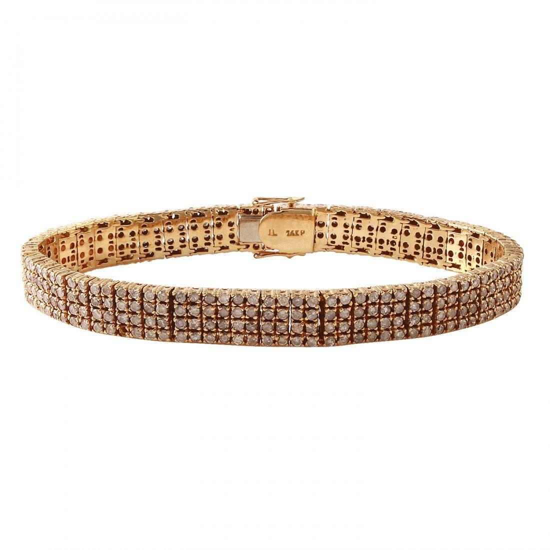 Ladies 4CTW Diamond 14K Yellow Gold Bracelet