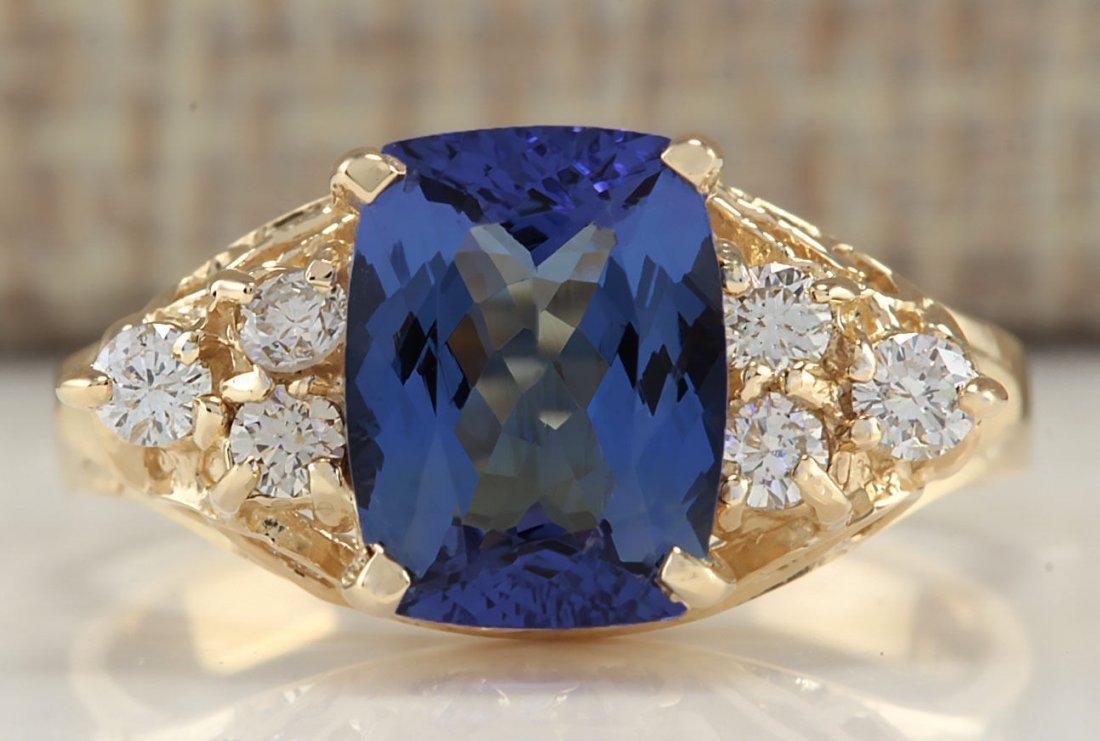 2.41CTW Natural Tanzanite And Diamond Ring In 14K
