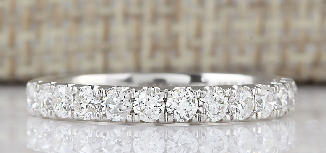 .80 CTW Natural Diamond Ring 14k Solid White Gold