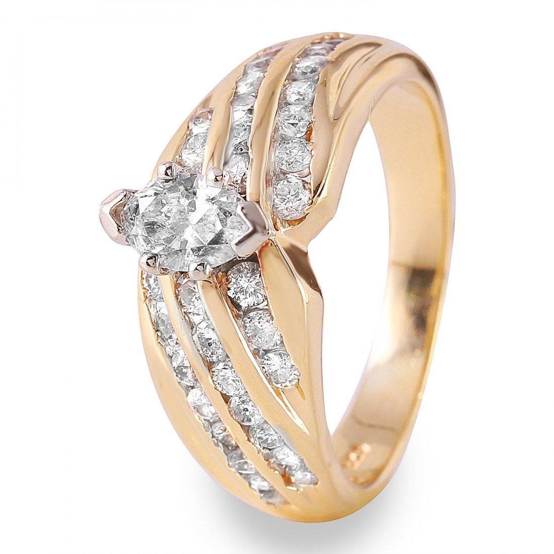 Ladies 1.5CTW Diamond 14K Yellow Gold Ring