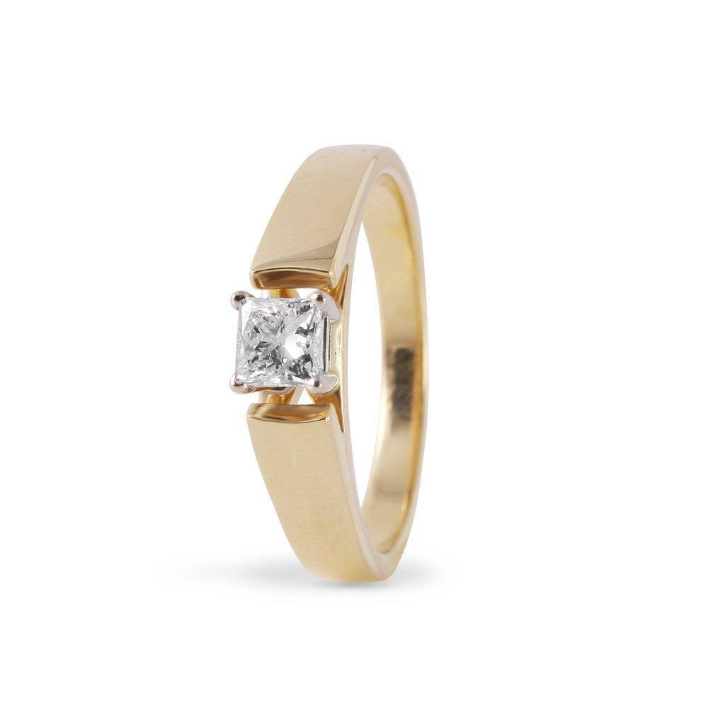 Ladies 0.4CTW Diamond 14K Yellow Gold Ring