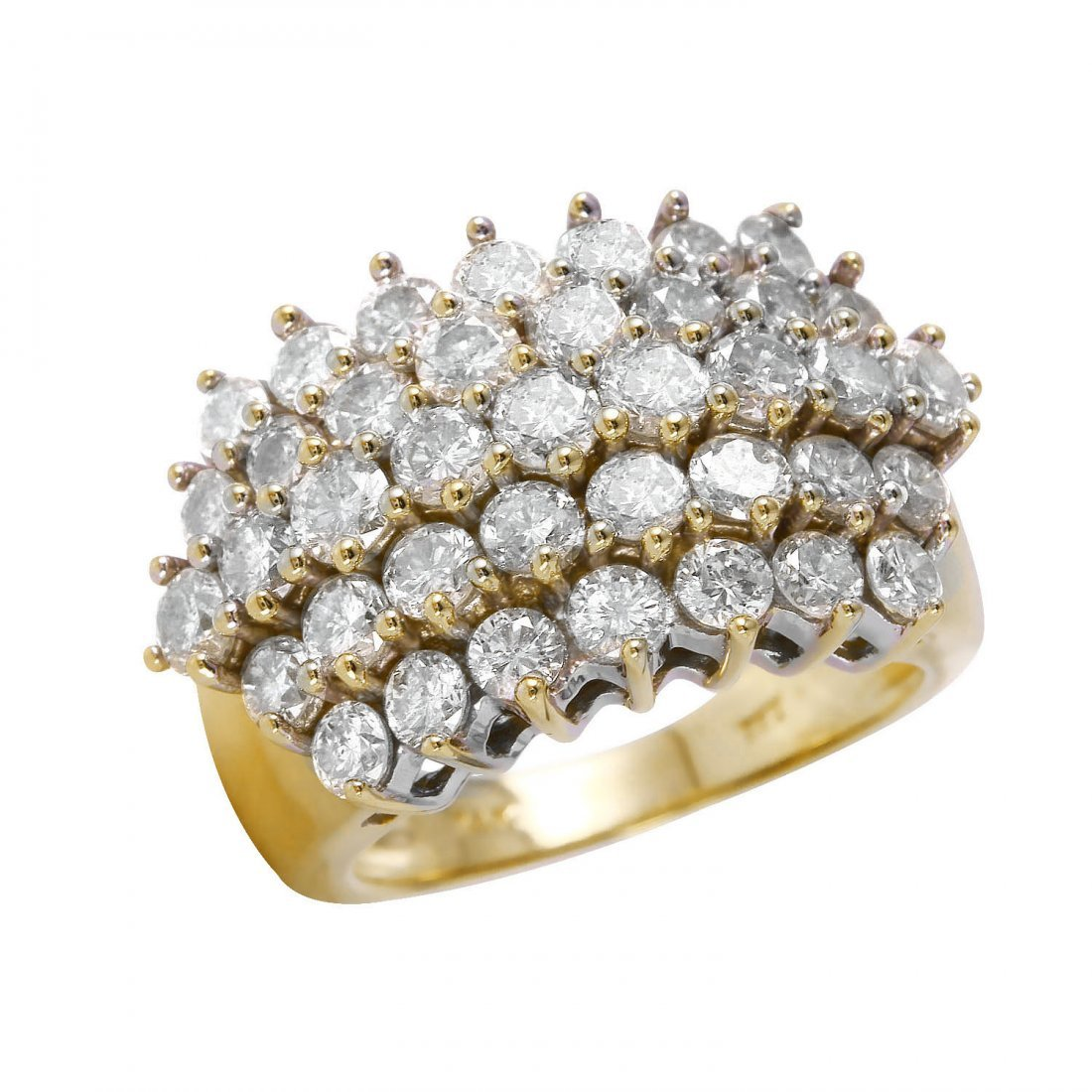Ladies 3.5CTW Diamond 14K Yellow Gold Ring