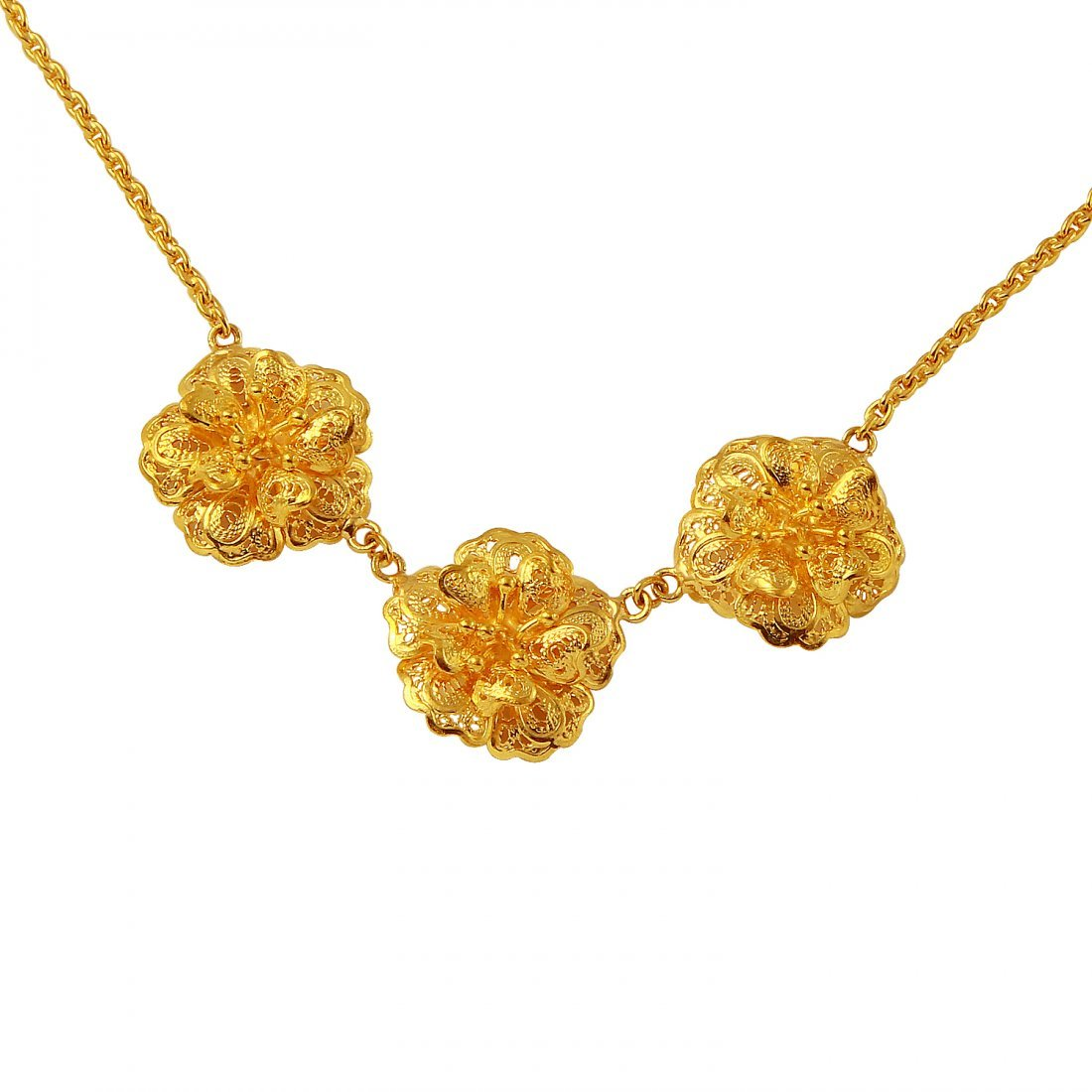 Ladies 23K Yellow Gold Necklace