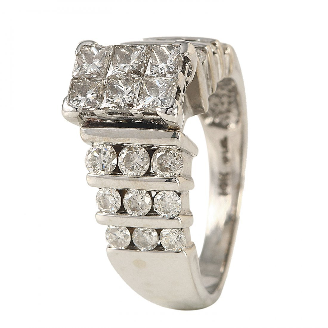 Ladies 2CTW Diamond 14K White Gold Ring