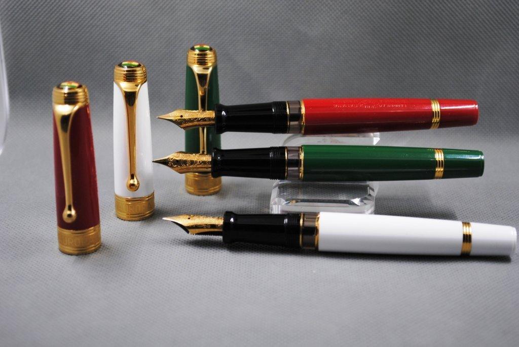 Aurora Limited Edition Italian Flag Set Fountain Pens - 2