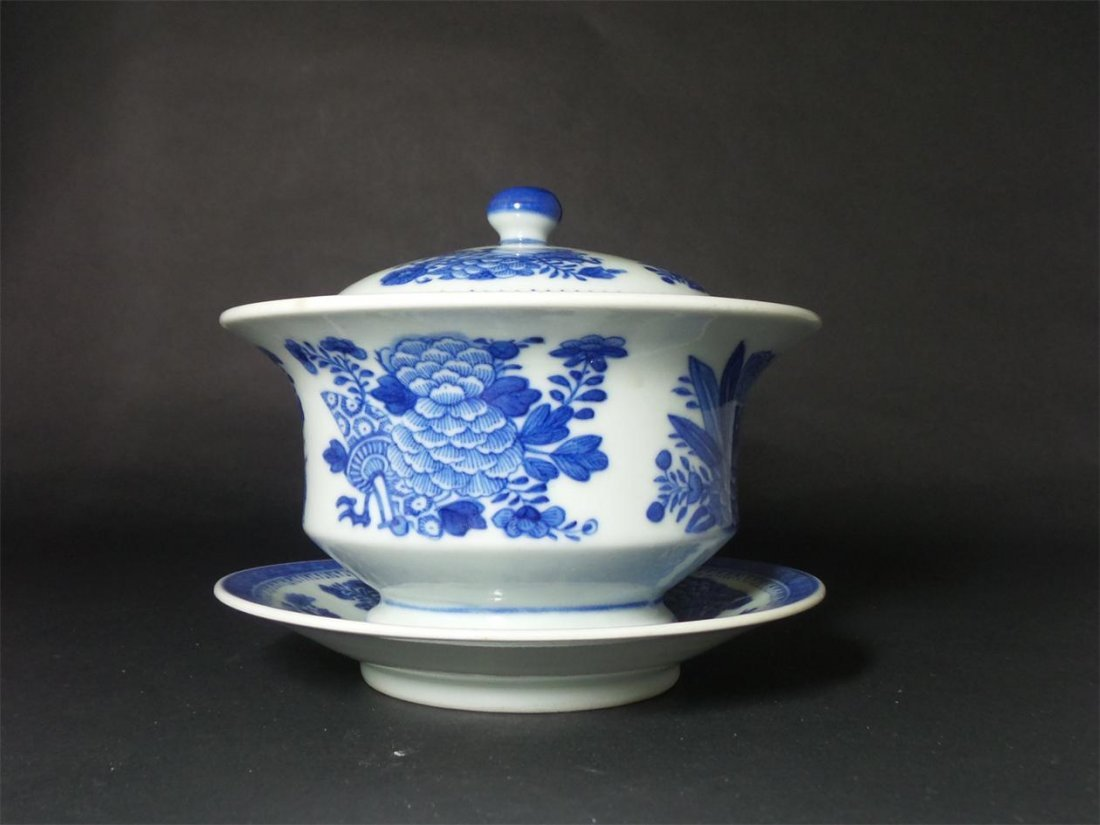 QING-BLUE AND WHITE BOWL (Clark porcelain)