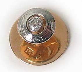 1009: Vintage Gold Diamond Mens Tie Tac