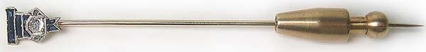 1012: Antique Diamond Gold Platinum Antique Pin