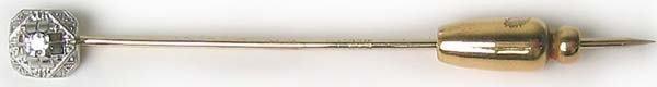 1014: Vintage Classic Gold Diamond Hat Pin