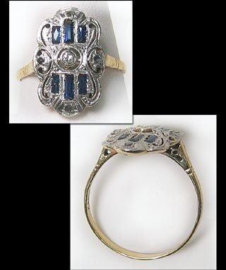 1093: Antique Victorian Gold Diamond Ring