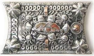 Vintage Sterling Gold Brooch Rare