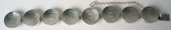 1254: Signed Sterling Silver Bracelet