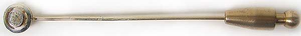 1260: Very Nice Vintage Gold Diamond Hat Pin