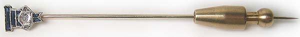 1261: Antique Diamond Gold Platinum Antique Pin