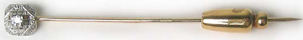 1263: Vintage Classic Gold Diamond Hat Pin