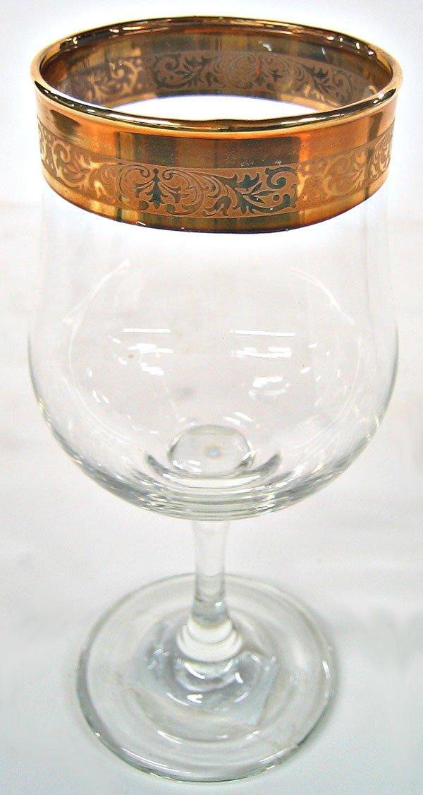 1830: Gilded goblets, lot of 6