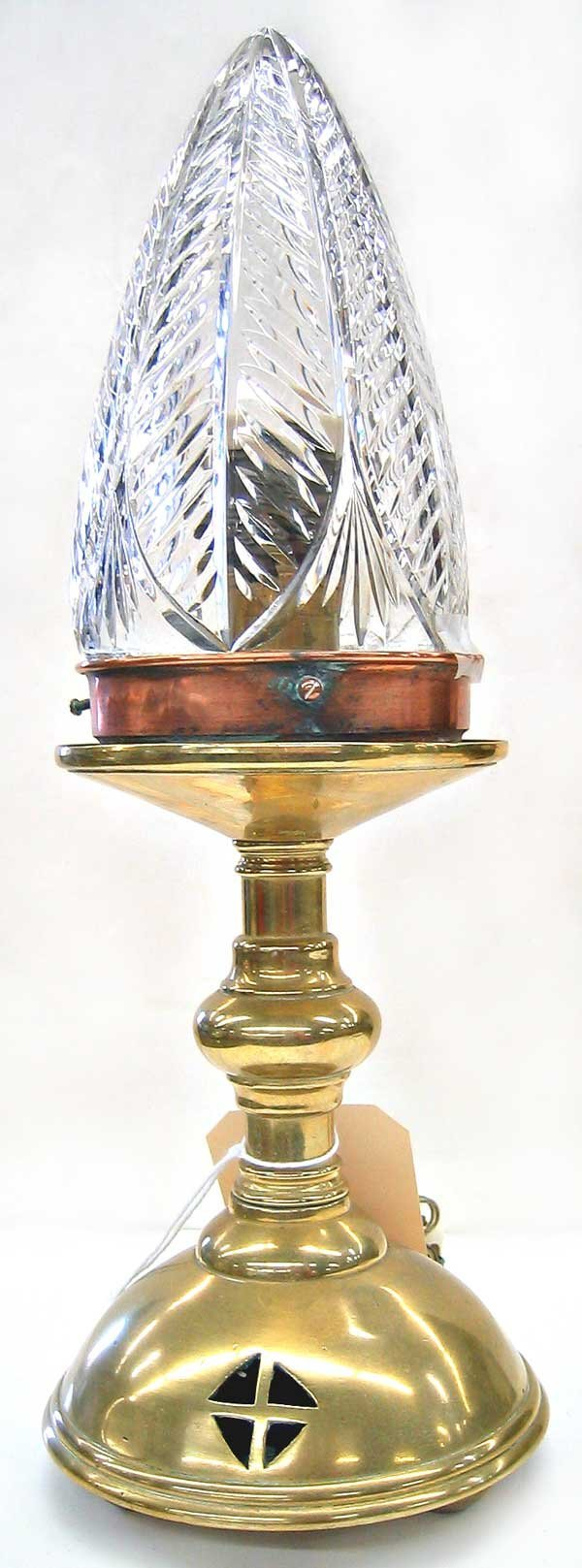 1972: Brass table lamp