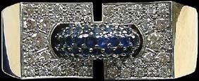2532: Gorgeous Diamond Gold Platinum Bracelet