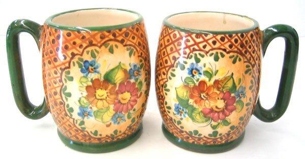 2951: Hand painted mugs