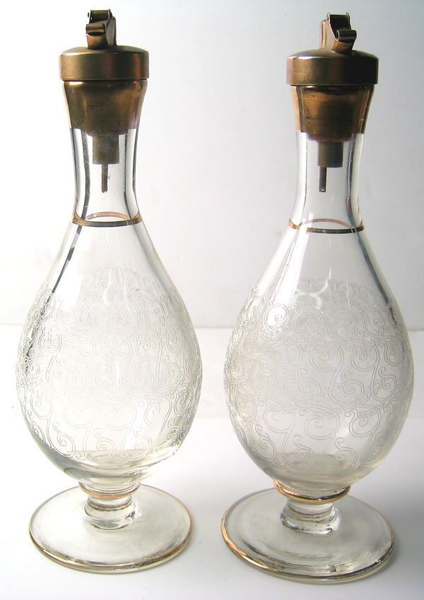 2955: 1940's oil and vinegar bottles