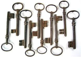 Lot of 10 antique keys