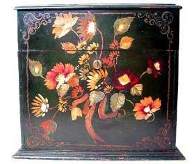 3078: Rare 19th century  Painted Jewelry Box