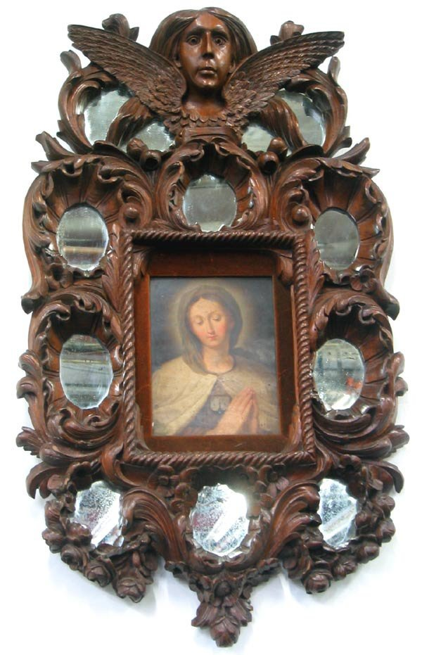 3176: Art Madonna Wood Carving Black Forrest ?