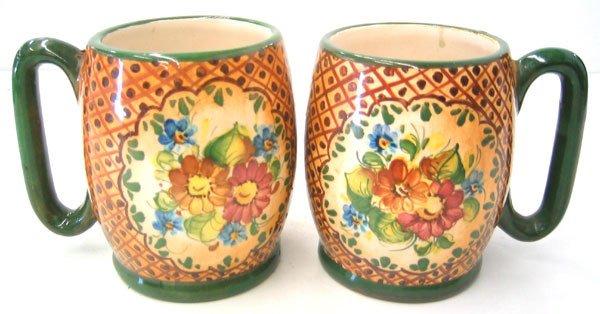 3951: Hand painted mugs