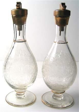 1940's oil and vinegar bottles