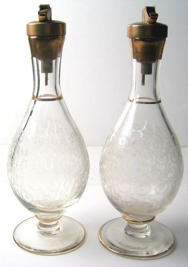 3955: 1940's oil and vinegar bottles
