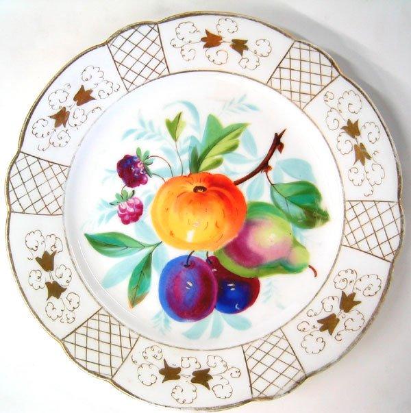 3961: Porcelain dessert plates