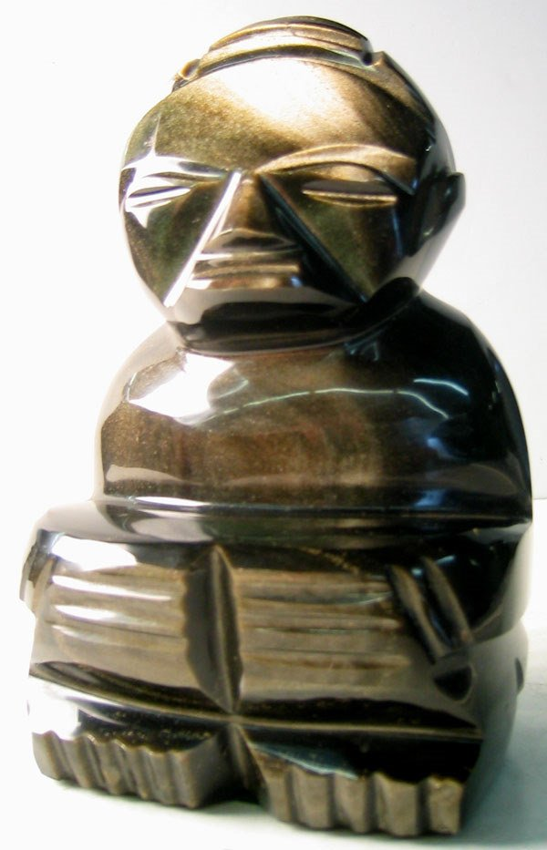 3962: Tiki Art glass figure