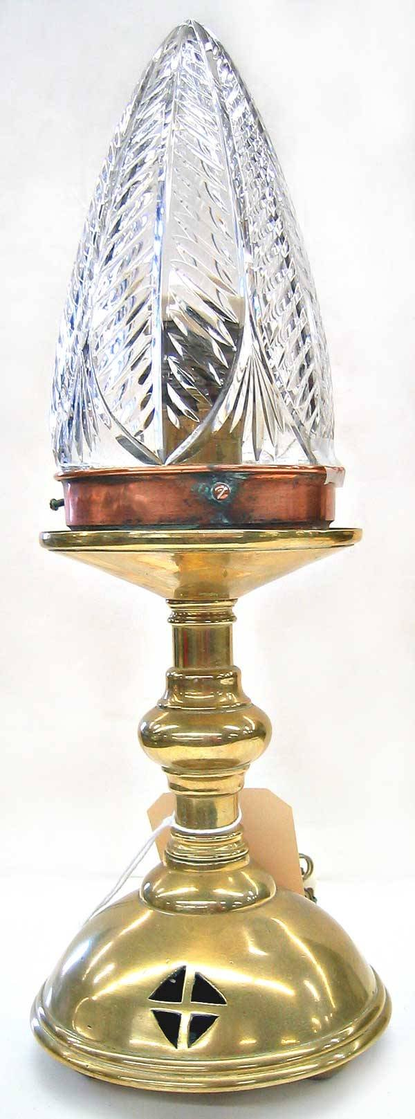 3972: Brass table lamp