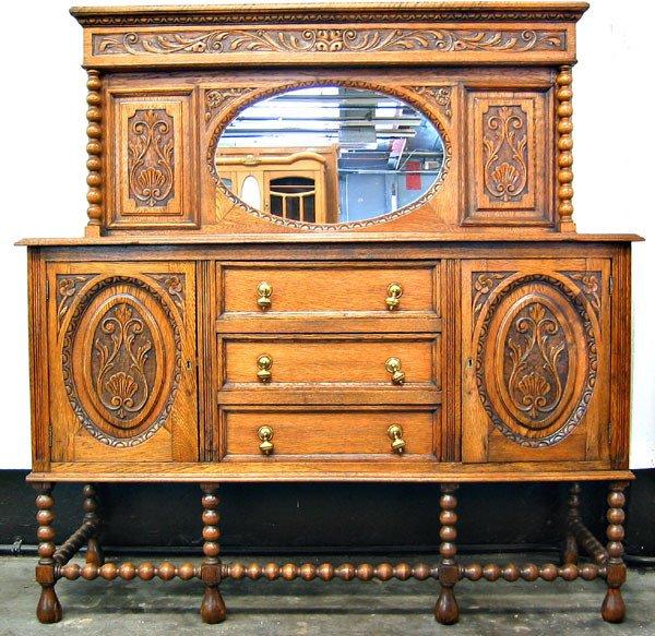 4309: Carved oak colonial server