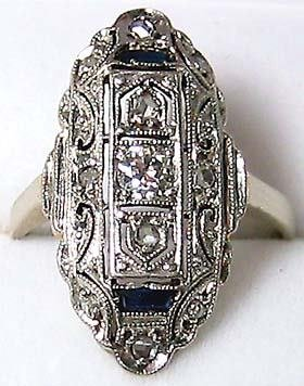 4471: Edwardian Antique Diamond Gold Ring
