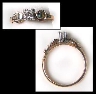 400: Vintage Platinum Gold Diamond Solitaire