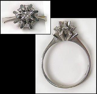 404: Gorgeous White Gold Diamond Ring