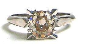 529: Fancy Platinum Diamond Solitaire Ring