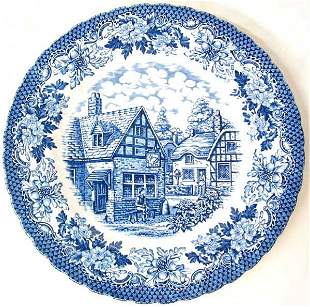 Lot of 8 Blue plates