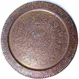 Brass Aztec Calendar