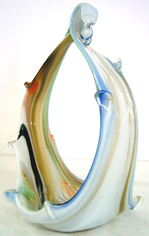 7950: Artistic glass unsigned