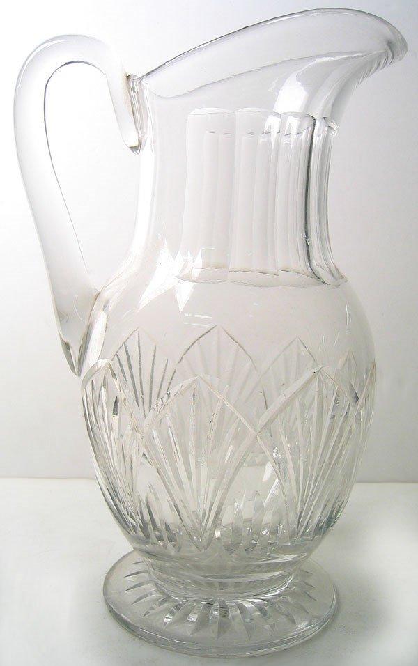 7960: Cut Glass pitcher