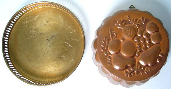 7974C: Brass Tray and Copper mold lot