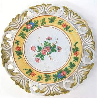 Signed ceramic wall plate
