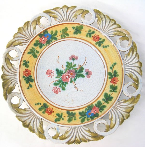 7978: Signed ceramic wall plate
