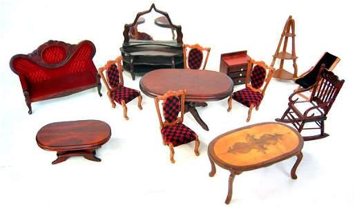 8068: Miniature doll house wood furniture