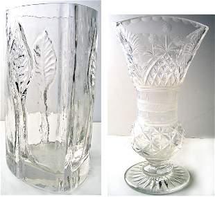 Lot of 2 nice flower vases flower vase