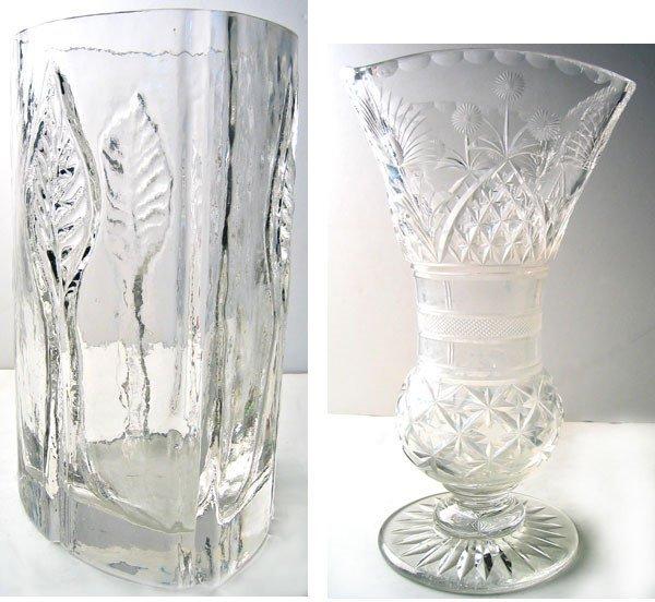 2964: Lot of 2 nice flower vases flower vase